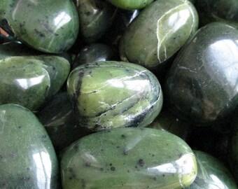 Canadian Jade Tumbled Stone | Tumbled Canadian Jade Stone | Healing Stone | Feng Shui | Metaphysical | Altar Stone | Grid Stone