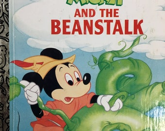Mickey and the Beanstalk Little Golden Book Copyright 1988 / 1993 Edition #103-69 - Golden Book Luv