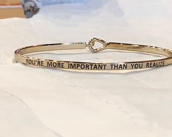The inspired bangle ( you more importing than you realize)