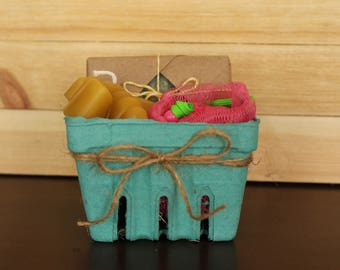 Soap and Beeswax Candle Gift Basket