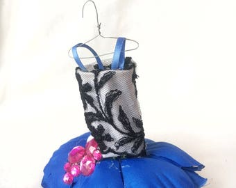 Fairy Dress; black, white, pink, and blue