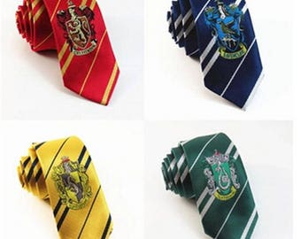 Harry Potter Tie Gryffindor Slytherin Hufflepuff Ravenclaw Style Ties