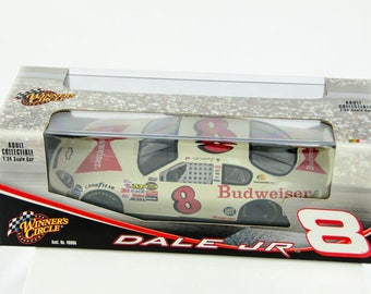 Winners Circle Dale Earnhardt Jr #8 White Budweiser 1/24 Scale Diecast Nascar