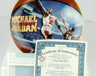 Upper Deck Limited Edition Michael Jordan 5 Time NBA MVP Collectors Plate