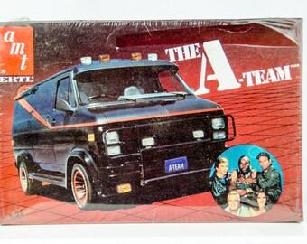 Sealed Vintage AMT The A Team GMC Van 1/25 Scale Model Car Kit