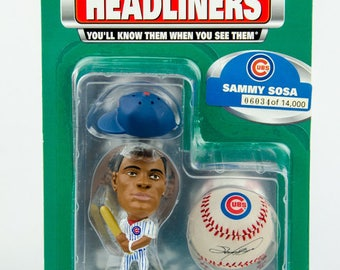 1999 Limited Edition Headliners Series 1 Sammy Sosa Figure - Chicago Cubs