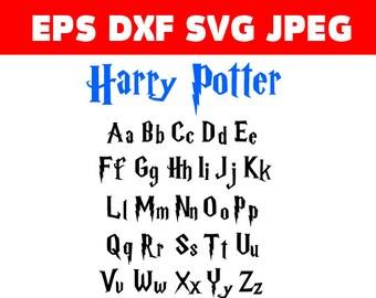 Harry Potter Font, svg, dxf, eps, jpg, Download files, Digital, graphical