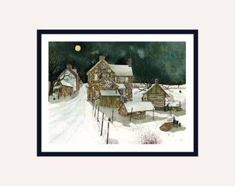 Edge of Town Print || Watercolor Print