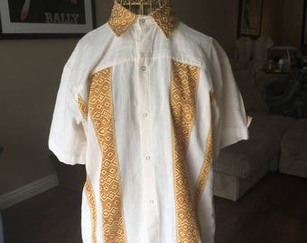 Ethiopian Traditional & Contemporary Men's Dress Shirt, Organic Cotton