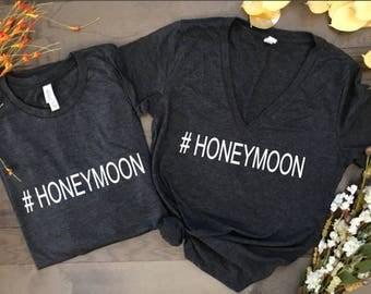 honeymoon, honeymoon shirts, hubby and wifey, wedding shirts, engagement gift, wedding gift, couples shirts, matching shirts