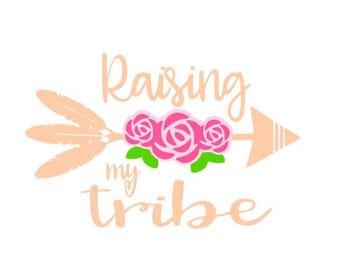 Raising my Tribe SVG vector
