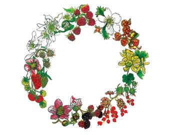 Mixed Berry Wreath