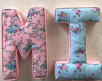 Fabric letters- Any fabric and any personalisation. These make great gifts or are ideal for bedroom walls/doors