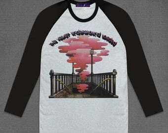 The Velvet Underground Loaded 3/4 Long sleeve Grey Body and Black Raglan Sleeve Cotton Adult Unisex Size S M L XL