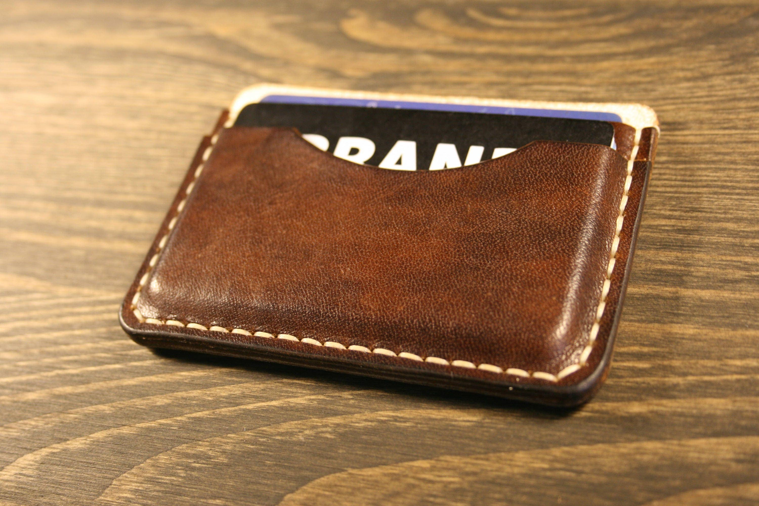 Pocket Slim Wallet, Leather Business Card Holder, Leather ...