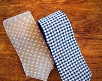 Kangaroo Ties (Navy and light Blue)