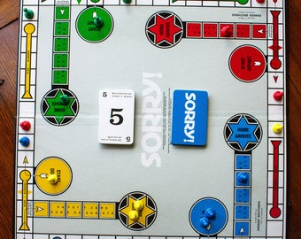 Sorry Board Game Complete 1972 Great Condition
