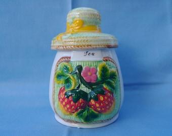 Vintage tea canister