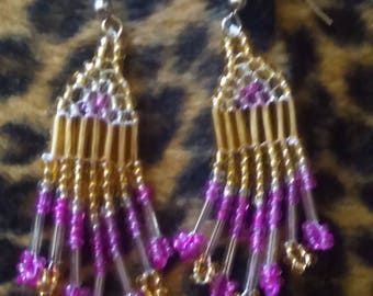 Princess inspired beaded earrings