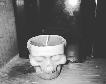 Handmade skull candle