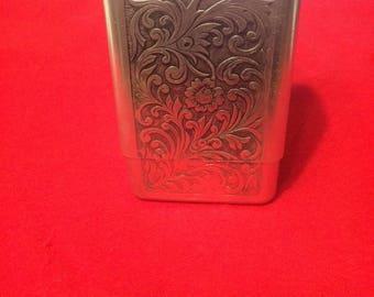 Embossed Aluminum Cigarette Case