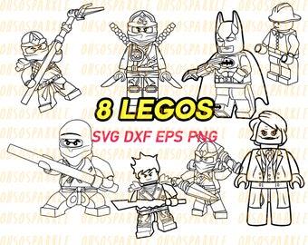 lego svg, stencils, decals, vinyl, line art, silhouette, graphics, clipart, png, eps, dxf, cricut cut files, sizzix, ninja go