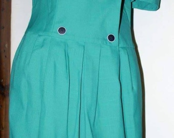 1960's blue dress salior style collared dress