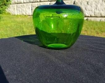 Beautiful Viking glass apple paperweight