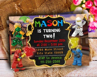 Ninjago Invitation, Ninjago Party Supplies, Ninjago Birthday, Ninjago Party Favors, Ninjago Invitation Printable, Ninjago Invite