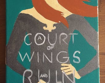 A court of wings and ruin book cover painting