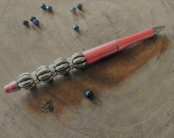 Ornate beaded pen with Rhinestones