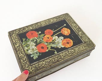 Vintage box / pink gold metal