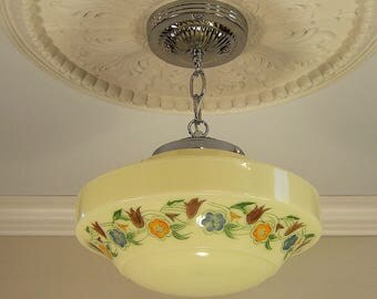 Vintage Art Deco Pendant Ceiling Light Fixture