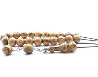Olive Wood Komboloi, Worry Beads, Greek Komboloi, Olive Wood Beads, Stress Relief, Gift for Him, Made in Greece, Gift for Dad, Tesbih, Relax