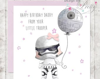 Star Wars Stormtrooper Birthday Card - Dad Daddy
