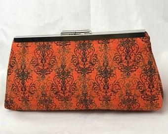 Orange Elegant Clutch Purse