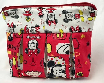 Minnie Mouse Pleated Zipper Pouch