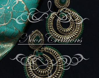 Emeralds and Gold Intricate Design!