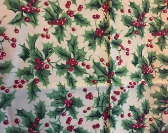 Holly and Ivy Fabric