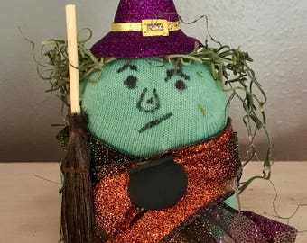 Witch Sock Figurine