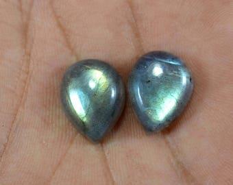 Blue Labradorite Cabochon Gemstone, Pear Shape Labradorite Stone,Mixed Cabochon  Rainbow Labradorite Loose Labradorite Labradorite Stone