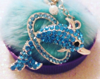 Dolphin with tassel keychain