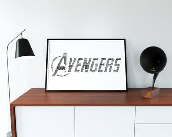 avengers svg, avengers print, jpeg prints, superhero poster, superhero prints, black, digital download, EPS, SVG, JPEG