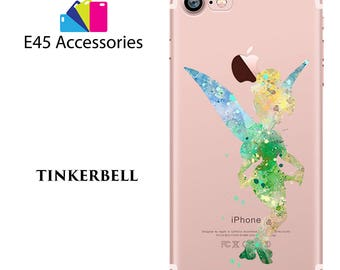 TINKERBELL Disney Watercolour Hard Case for iPhone 5S 5 SE, iPhone 6S 6 or iPhone 7