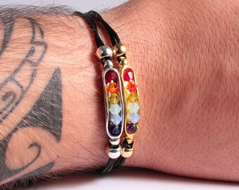 Lgbt Bracelet, Swarovski Bracelet, Lgbt Pride Bracelet, Mens Bracelet, Friendship Bracelet, Gay Bracelet, Rainbow Bracelet