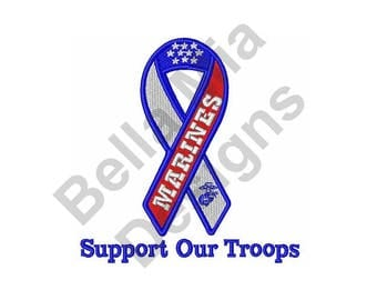 Marines - Machine Embroidery Design, Support Our Troops