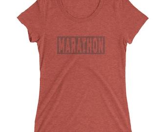 Women's Marathon TriBlend T-Shirt - Marathon Runner - 26.2 Mile Runner - Sunrise Running Company