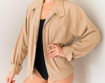 Vintage 50s Zip Up Jacket Small S