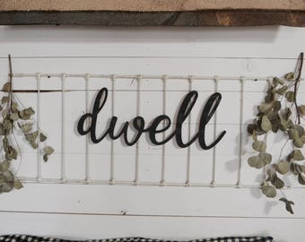 Dwell Word Wood Cut Out Wall Decor