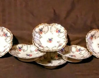 Vintage Edelstein Bavaria nut or berry dishes